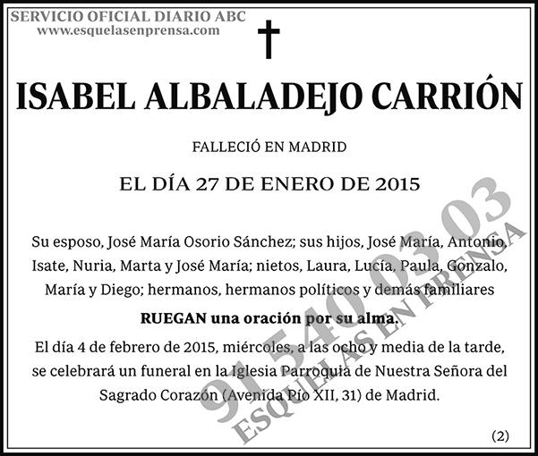 Isabel Albaladejo Carrión